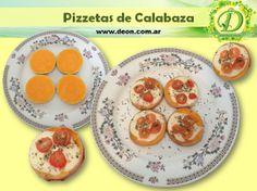 Pizzetas de Calabaza. ¡Fácil, ricas y sanas! www.deon.com.ar