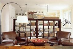 Love the use of the Expedit-like bookcase as a room divider...