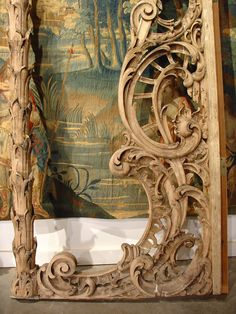 Rare Pair of Carved Antique French Walnut Wood Rococo Gates   From a unique collection of antique and modern doors and gates at https://www.1stdibs.com/furniture/building-garden/doors-gates/