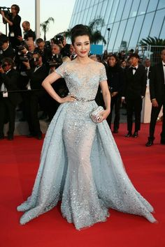 Cheap celebrity dresses, Buy Quality cannes film festival directly from China cannes dress Suppliers: JC&STAR 2017 Cannes Film Festival Zuhai Celebrity Dresses With Detachable Train Evening Dress Red Carpet Short Sleeve Prom Gown Baby Blue Prom Dresses, African Prom Dresses, Pretty Dresses, Modest Dresses, Wedding Dresses, Zuhair Murad Dresses, Evening Dresses Uk, Lace Dress Black, Dress Red