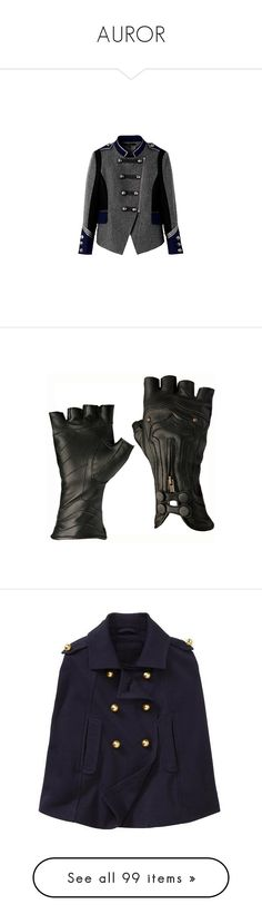 """""""AUROR"""" by pixylamb ❤ liked on Polyvore featuring outerwear, jackets, coats, tops, accessories, gloves, steampunk, luvas, real leather gloves and steampunk gloves"""
