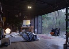 Une petite maison sur l'eau - PLANETE DECO a homes world dream house luxury home house rooms bedroom furniture home bathroom home modern homes interior penthouse Maison Sur Leau, Room Interior, Interior Design Living Room, Dream House Interior, Apartment Interior, Sweet Home, Water House, Houses On The Water, Cozy Bedroom