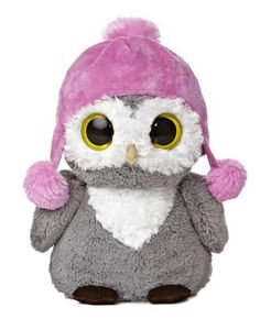"11"" Aurora Plush Owl Dreamy Eyes Wise Family Mom Bird Stuffed Animal Toy 09819 #Aurora"