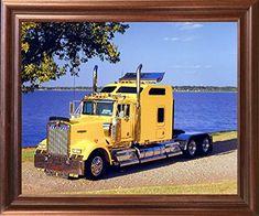 Yellow Kenworth Semi Big Rig Diesel Truck Mahogany Framed... https://www.amazon.com/dp/B01J3GD6XO/ref=cm_sw_r_pi_dp_x_BpWfybWHMXDB4