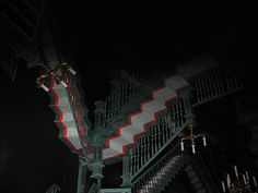 New staircase scene at the Haunted Mansion in Orlando