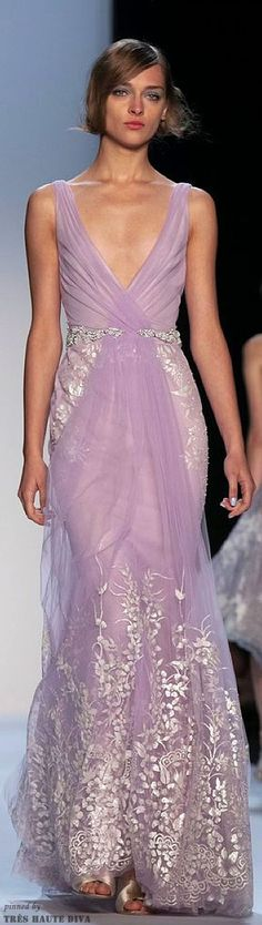 (via #NYFW Badgley Mischka  2014 | ♥ lilac, lavender…lovely ♥ Love this Color