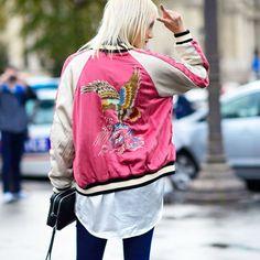 oriental embroidery bomber jacket - Pesquisa Google