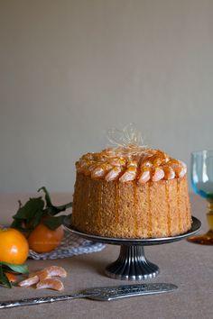 Chiffon Cake Fluffosa mandarino e curcuma