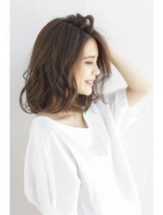 【東 純平】大人女性のゆるウェーブボブディ2016