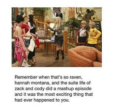 Disney Channel at its best. That's so suite life of Hannah Montana!!! How I remember this I have no idea...