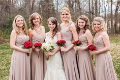 love the champagne color for bridesmaids dresses