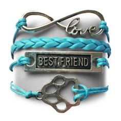 BF Infinity Puppy Bracelet - Turquoise Offer $49.99-BF Puppy Infinity Bracelet - Turquoise OfferFree Offer (Just pay shipping)Note: These are custom madebracelets.Please allow 3-4 weeks for delivery.