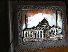Vintage Cakir 3d copper relief photo album by WoodenStoolVintage, $39.90
