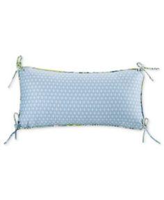 "Echo Sardinia 9"" x 18"" Oblong Diamond Print Decorative Pillow - Blue"