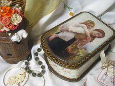 """Купить Шкатулка """"Сестры"""" - шкатулка для украшений, Декупаж, подарок на новый год, ручная работа, хранение мелочей"""