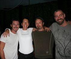 Mads Mikkelsen with The Three Musketeers cast. [ source ]