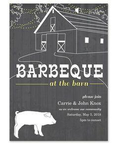 Barn BBQ Invitations - Celebrations (