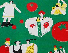 トマトガール Tomato Girl Risograph Riso Print 红番茄女孩