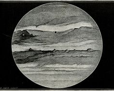 Twilight Zone  Matted Antique Jupiter Print C. 1877  French Engraving 1