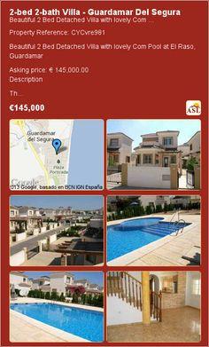 2-bed 2-bath Villa in Guardamar Del Segura ►€145,000