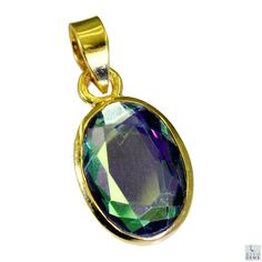 #dichroic #glass Gold Plated #Fashion #pendant #Artificial #RiyoGems #Jewelry #Jewellery #gems #gemstone
