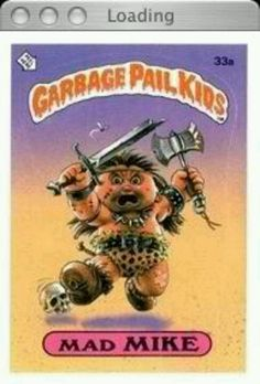 ebdd1e35364 Mad Mike Topps Trading Card Garbage Pail Kids Series Kids Giant Stickers 33  A