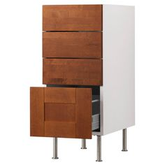 "AKURUM Base cabinet with 4 drawers - birch effect, Ädel medium brown, 15 "" - IKEA  BASE/OVEN/ UTENSILS"