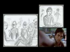 Taxi Driver storyboards by Martin Scorsese