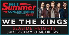 >@WeTheKings perform at @TheB985 Summer Concert Series in #seasideheights TOMORROW !!!  @ 11am on Carteret Ave stage