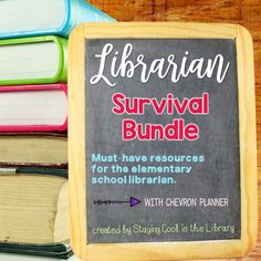 Ultimate School Librarian Survival Kit - Chevron Planner – Staying Cool in the Library Library Posters, Library Books, Library Lessons, Substitute Binder, Substitute Teacher, Elementary School Library, Elementary Schools, Dewey Decimal System, Dictionary Skills