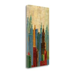 Midwest Towerscape II By Jason Cardenas, Gallery Wrap Canvas, Green