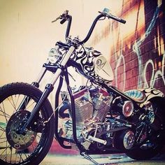 """White Devil"" chopper designed by Indian Larry and Bobby Seeger #motorcycle #motorbike"