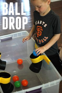 PVC Pipe Ball Drop for Kids. Join our 10 Days of Toddler Activities for more easy ideas!