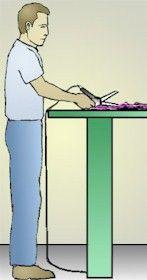 OSHA cutting table height