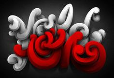 15 Insanely Elaborate Typographic Works by Marcelo Schultz Typography Letters, Typography Logo, Hand Lettering, Logos, Typography Inspiration, Creative Inspiration, Create Words, Type Design, New Fonts