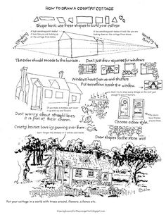 How to Draw Worksheets for The Young Artist: landscape