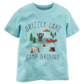 He's headed to the campground for bonfires, fishing and fun in this tee!