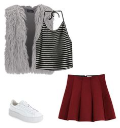 """~CLUELESS~"" by toofabuforyou ❤ liked on Polyvore featuring Outstanding Ordinary, Puma and MINKPINK"