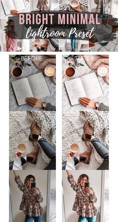 Free Lightroom Preset Bright Minimal - Cappuccino and Fashion Free Lightroom Preset Bright Minimal. Photo Editing Vsco, Online Photo Editing, Photography Editing, Photography Tutorials, Photo Editing Free, Lightroom Photo Editing, Instagram Photo Editing, Flash Photography, Inspiring Photography