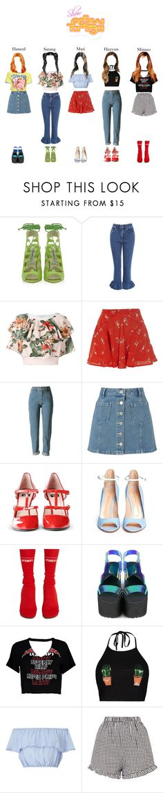 """""""《ComeBack 》'BoyzOut' Show Music Core Stage"""" by abyssofficial ❤ liked on Polyvore featuring Brian Atwood, The Ragged Priest, Philosophy di Lorenzo Serafini, River Island, WithChic, Miss Selfridge, Boutique Moschino, Gianvito Rossi, Vetements and UNIF"""