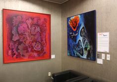 """The Art & Culture Program at Denver International Airport (DIA) is pleased to present """"Time and Space,"""" a painting exhibition for passengers and airport visitors. The display is located at the Airport Office Building lobby gallery northwest of Ansbacher Hall on level 6. The exhibition is open during regular business hours through August and features four paintings by the late Denver-based artist, Vance Kirkland. News Release: http://business.flydenver.com/pr/DIAPR_140221n.pdf"""