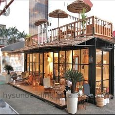 container restaurant pop-up shipping kiosk design pop up shop with fast delivery on Container Home Designs, Café Container, Container Coffee Shop, Container House Plans, Kiosk Design, Cafe Shop Design, Cafe Interior Design, Deco Restaurant, Outdoor Restaurant