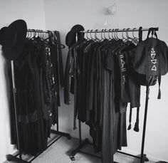 "crowrunner: ""So much easier to find things in my 90% black wardrobe now! Bedroom and study renovations now 70% complete. Would you guys like to see a room tour when I'm done? """