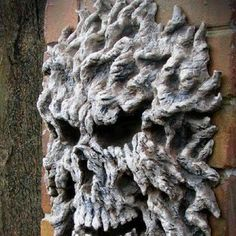 Make this out of expanding foam, build up to desire size and carve out eyes, teeth and nose with a knife. Paint. Weather proof too