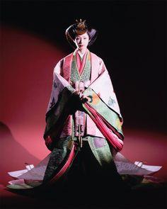 Junihitoe kimono - Japanese ancient kimono from Heian period (794~1185)