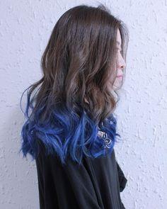 Akemi TaharaさんはInstagramを利用しています:「ブルーグラデーション * 2bleach+color+vividcolor ¥16,000+tax * 初回クーポン ¥10,000 *…」