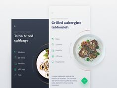 Daily Cooking Quest designed by Hoang Nguyen. Connect with them on Dribbble; the global community for designers and creative professionals. Web Design, Website Design Layout, App Ui Design, Food Design, Wireframe, Cooking App, Cooking Recipes, Mobile Ux, How To Cook Kale