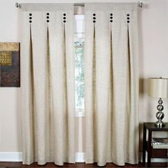 Murano Rod-Pocket Inverted Pleat Drapery Panel - jcpenney can I make these for the living room??? check out sewig bible for box pleating.