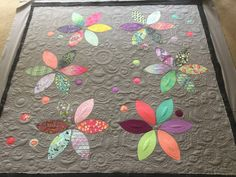 """This utterly blows me away. The quilting on this """"Henna Quilt"""" by Carolyn Murfitt of Free Bird Quilting Designs is AMAAAAAAZING. I want to be as good as Carolyn when I grow up. (And/or maybe just have her quilt a certain quilt of mine.)"""