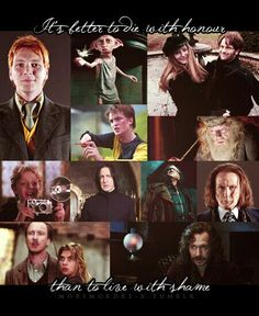 Everyone who stood by the side of Harry Potter had a vision in their hearts and the bravery to make it happen, even if it killed them. R.I.P.